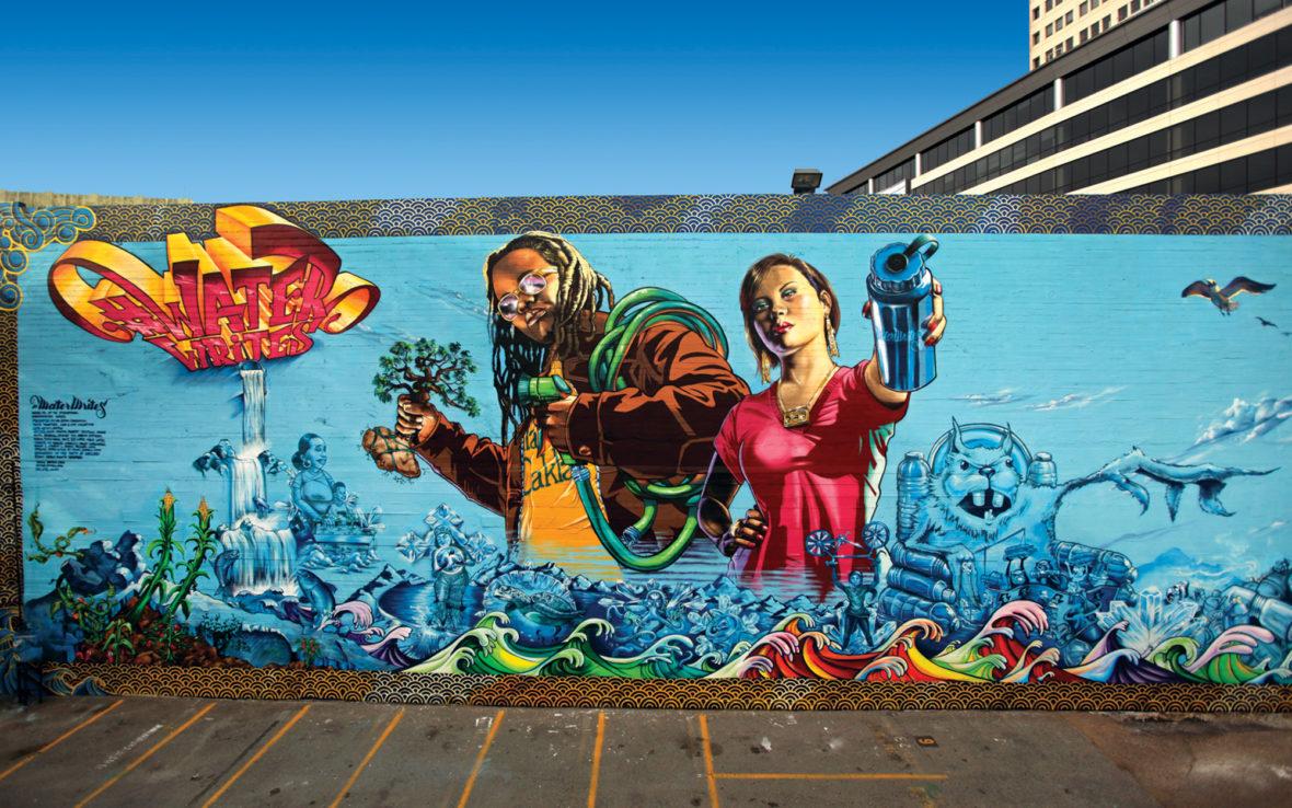 WaterWrites mural